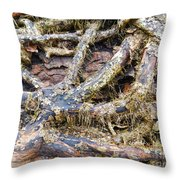 Forest Fingers Throw Pillow