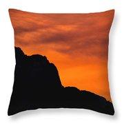 Forest Fire Sunset 01 Throw Pillow