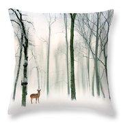 Forest Friend Throw Pillow