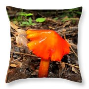 Forest Fungi Flare Throw Pillow
