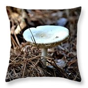 Forest Fungus Throw Pillow