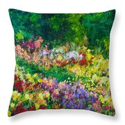 Forest Garden Throw Pillow