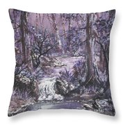 Forest In Lavender Throw Pillow