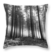 Forest In The Mist Throw Pillow