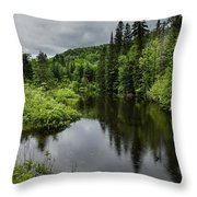 Forest Lake - Quebec - Canada Throw Pillow