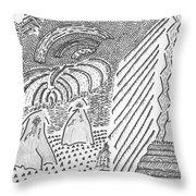 Forest Light Beams Throw Pillow
