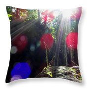 Forest Lightscape Throw Pillow