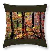 Color The Forest Throw Pillow