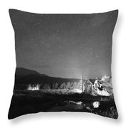 Forest Of Stars Above The Chapel On The Rock Bw Throw Pillow
