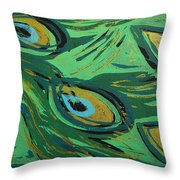 Forest Peacock Throw Pillow