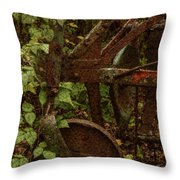 Forest Reclaimed Throw Pillow by Jack Zulli