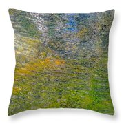 Forest Reflection Throw Pillow by Roxy Hurtubise