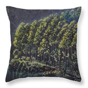 Forest Reflections Throw Pillow
