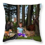 Forest Rendezvous Throw Pillow