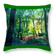 Forest Scene 1 Throw Pillow