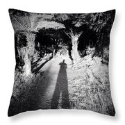 Forest Shadow Throw Pillow by Les Cunliffe