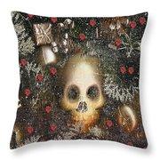 Forest Skull Pop Art Throw Pillow