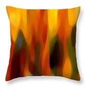 Forest Sunlight Horizontal Throw Pillow