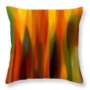 Forest Sunlight Vertical Throw Pillow