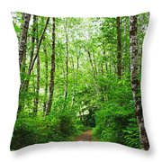 Forest Trail To Follow Throw Pillow