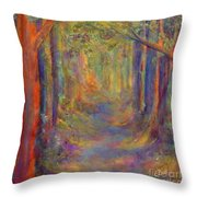 Forest Tunnel Throw Pillow