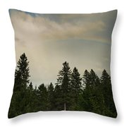 Forest Under The Rainbow Throw Pillow