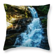 Forest Waterfall Throw Pillow