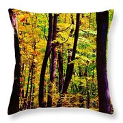 Forest Waves Throw Pillow