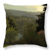 Forested Hills Throw Pillow