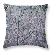 Forests Of Frost Throw Pillow