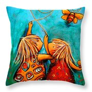 Forever Friends Throw Pillow by Karin Taylor