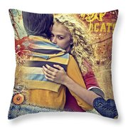 Forever Throw Pillow by Mo T