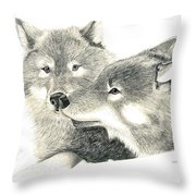 Forever Wolf Love-the Greeting Throw Pillow