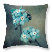 Forget Me Not 01 - S22dt06 Throw Pillow
