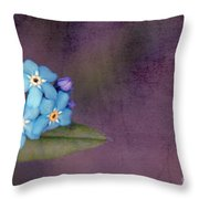 Forget Me Not 02 - S0304bt02b Throw Pillow