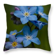 Forget Me Not Flower Throw Pillow