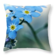 Forget Me Not Throw Pillow by Simona Ghidini