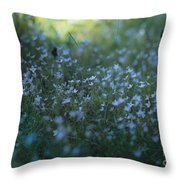 Forget Me-nots Throw Pillow