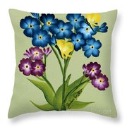 Forget Me Nots And Butterflies Throw Pillow
