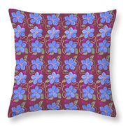 Forgetmenot Pattern On Marsala In Square Throw Pillow