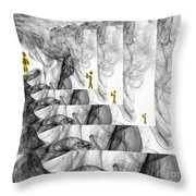 Forgetting Smoke Photography Throw Pillow