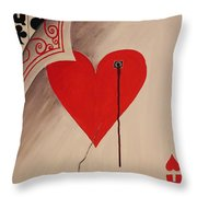 You Give Love A Bad Name Throw Pillow
