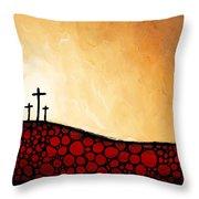 Forgiven - Christian Art By Sharon Cummings Throw Pillow