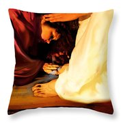 Forgiven Throw Pillow by Jennifer Page