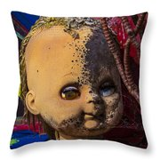Forgotten Baby Doll Throw Pillow