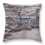 Forgotten Banana Seat Bike Throw Pillow