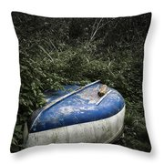 Forgotten Boat Throw Pillow