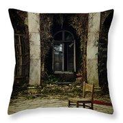 Forgotten Courtyard Throw Pillow
