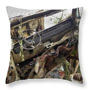 Forgotten Dash Throw Pillow by Crystal Harman