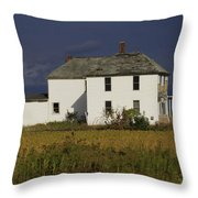 Forgotten Farm House Throw Pillow